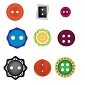 Colorful funny buttons — Stock Vector