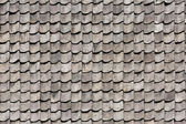 Black tiled roof for background — Stock Photo