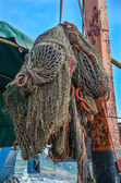 Fishing nets of the ship — 图库照片