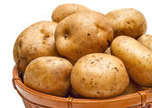 Potato basket close-up — Stock Photo