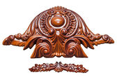 Antique wood ornament — Stock Photo
