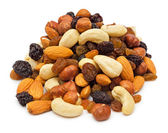 Pile of mixed nuts — Stock Photo