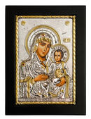 Gold icon of Virgin Mary — Foto Stock