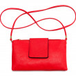 Постер, плакат: Red leather handbag