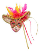 Pink carnival mask  — Stock Photo