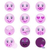 Vektor hintergrund mit emoticons — Stockvektor