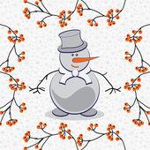 Illustration of a snowman — Stock Vector