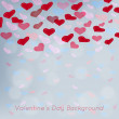 Valentine's day vector background with abstract hearts — Stock Vector