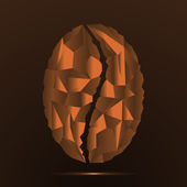 Coffee Bean-style polygon — Stockvektor