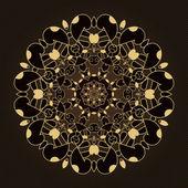 круглая абстрактный узор — Cтоковый вектор