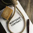Mortgage agreement - Stock Photo