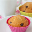 Two muffins and cup of tea — Stock Photo