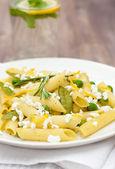 Delicious vegetarian pasta — Stock Photo