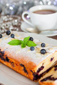 Christmas biscuit with blueberry — Stock Photo