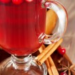Stock Photo: Hot mulled wine with berries