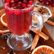 Winter drink with spice — Stock Photo