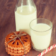 Cookie with milk for Santa — Stock Photo