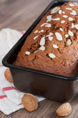 Freshly baked banana bread — Stock Photo