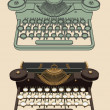 Vintage Typing machine — Stock Vector