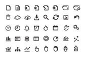 Document Simple Icons Set — Stock Vector