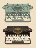 Vintage Typing machine — Stock Vector