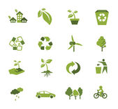 Green Ecology icon — Stock Vector