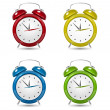 Color Alarm clock set.  — Stock Vector