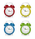 Color Alarm clock set. — Stock Vector