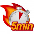 Five minutes timer — Stockvektor