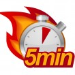 Five minutes timer — Vector de stock #26167365