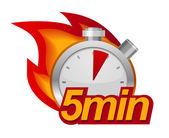 Pięć minut zegara — Wektor stockowy