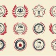 Achievement Badges — Vector de stock #26382891