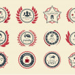 Achievement Badges — Stockvectorbeeld