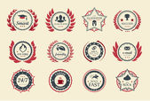 Achievement Badges — Stock Vector