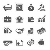 Financial icons set. — Stock Vector