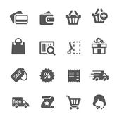 Shopping icons set. — Stockvektor