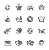 Event icons — Stock Vector