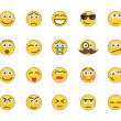 Emotion icons — Image vectorielle