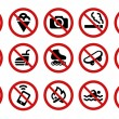 Forbidden signs — Stock Vector