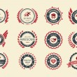 Vecteur: Achievement Badges