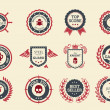 Achievement Badges — Vettoriale Stock #35027119