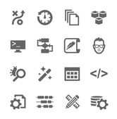 Development Icons — Stock Vector