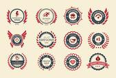 Achievement Badges — Stock Vector