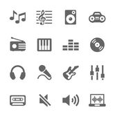 Music icons set. — Stock Vector