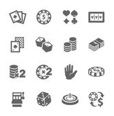 Gambling icons — Stock Vector