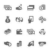 Geld Icons set. — Stockvektor