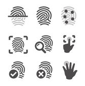 Fingerprint icons — Stock Vector