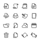 Document and papers icons — Stock Vector