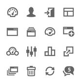 Dashboard icons set. — Stock Vector