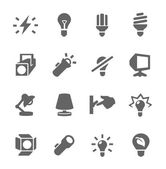 Light source icons — Stock Vector